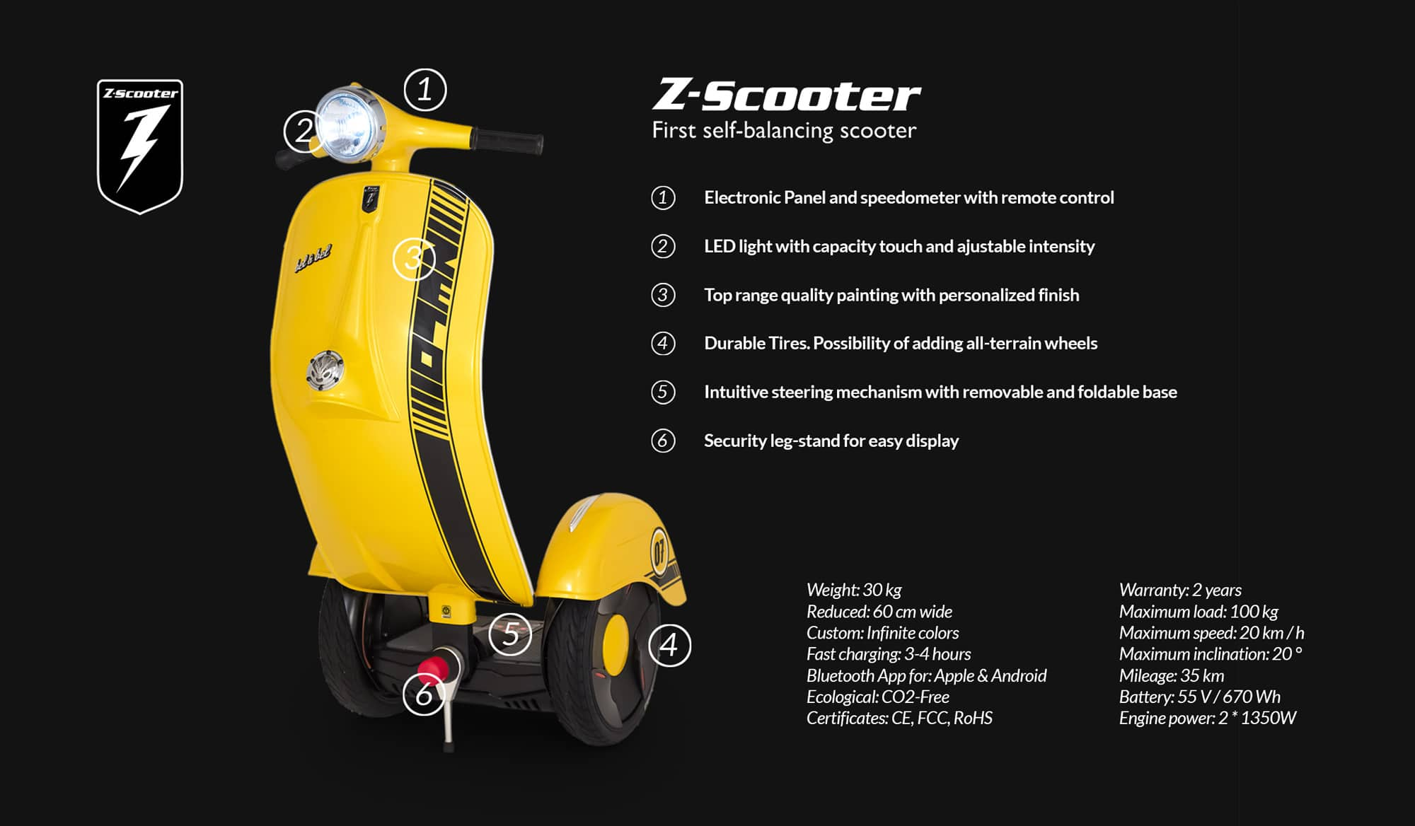 Z-Scooter Technical Specifications