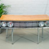 seat car desk 132 - desk made with car grill
