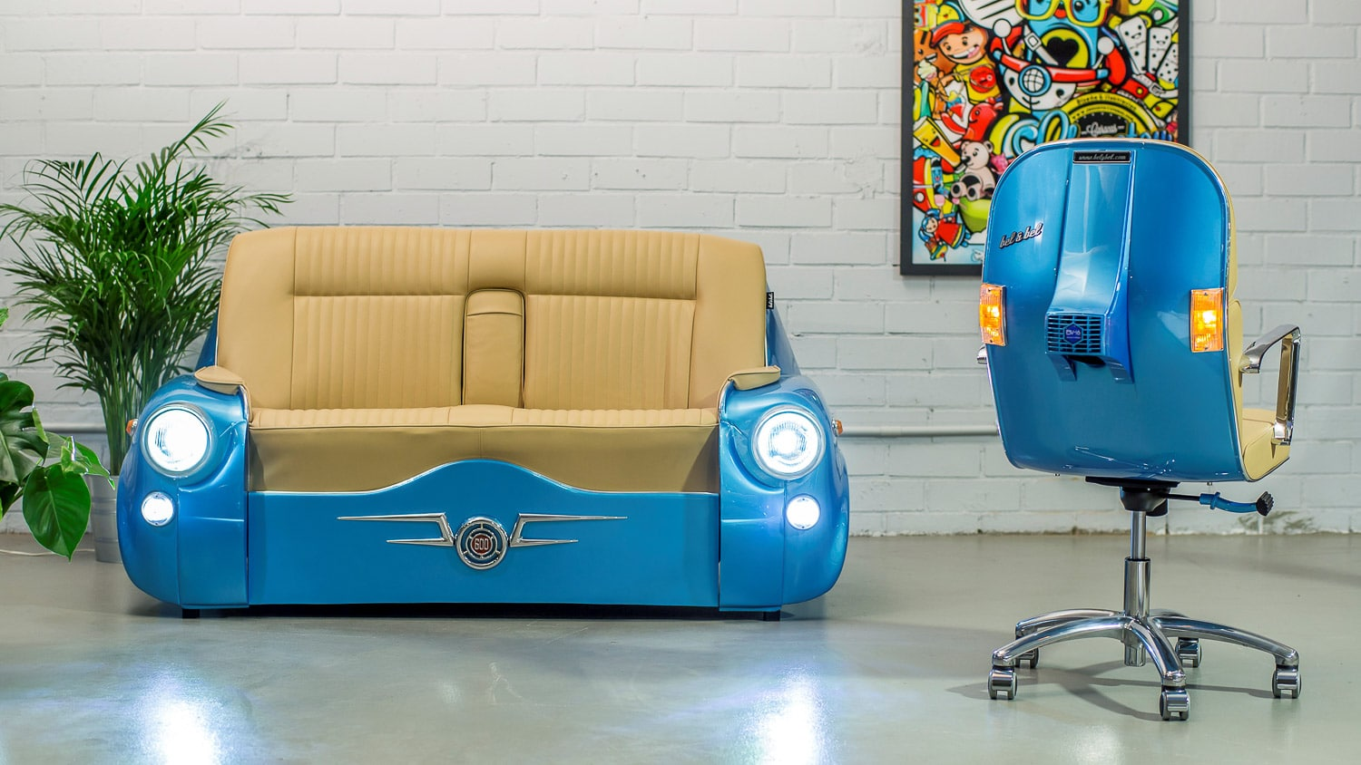 sofa 600- car couch, sofa made from car
