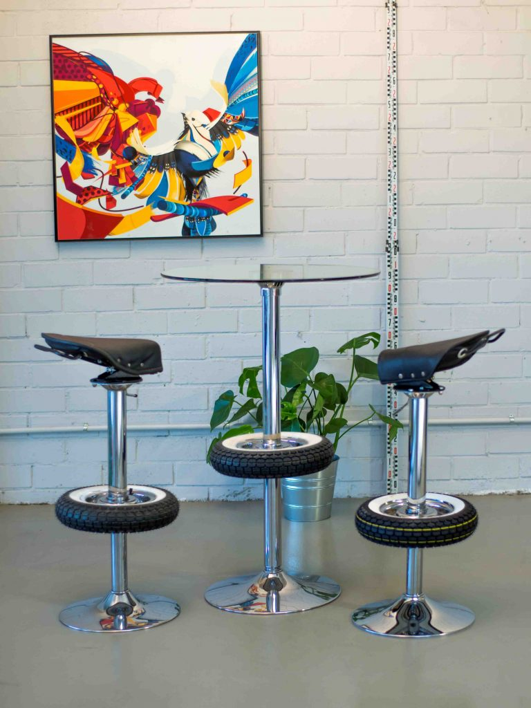 Enjoyable Vintage Stool Bar Creations Belbel Creative Studio Caraccident5 Cool Chair Designs And Ideas Caraccident5Info