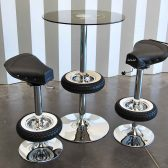 Vintage Stool Bar - Stool made with motorbike seat